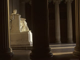 Sunlight Illuminates Lincoln's Statue in the Lincoln Memorial  Washington  DC