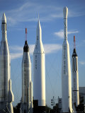 The Rocket Garden in Cape Kennedy  Florida