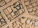 Typical Neighborhood in Agadez with Automobiles and Satellite Dishes  Niger
