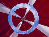 The Inflated Red Canopy of a Hot Air Balloon with the Blue Sky Behind  Australia