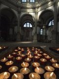 Tray of Lighted Candles in the Chuch of Santa Maria Della Salute  Venice  Italy