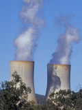 Steam Belches from Chimneys at an Electricity Generating Power Station  Australia