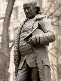 Statue of Ben Franklin in Boston  Massachusetts