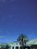 Startrails Around the Polaris and Full Moon