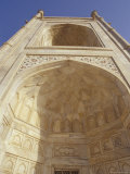 Taj Mahal Giant Archway with Pietra Dura Marble Inlay and Carving  Agra  India