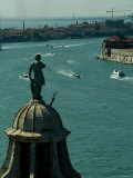 View from Campanile of San Giorgio Atop the Dome of the Church  Venice  Italy