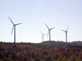 Wind Turbines on the Mountainous Hills near Somerset  Pennsylvania