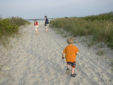 Three Siblings Along the Beach near Stone Harbor  New Jersey