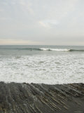 Santa Barbara Beach Scene with Surfers  California