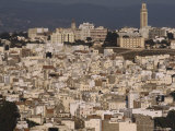 Tangier from la Mosque Moccre Hill with Mohammed V  The Tall Mosque in Place de Kuwait