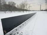 Vietnam Veterans Memorial in Winter
