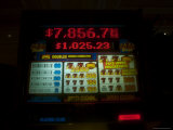 Slot Machine Shows a Growing Jackpot