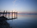 Sunrise with Pier on Chesapeake Bay  Maryland