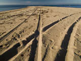 Tire Tracks Leading to the North Point of Block Island  Rhode Island