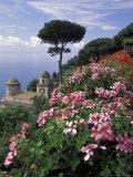 Villa Rufolo and Wagner Terrace Gardens Ravello  Amalfi Coast  Italy