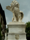 Statue of a Winged Lion with Shield  Asolo  Italy