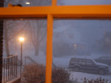 Snow Storm Through a House Window  Chevy Chase  Maryland