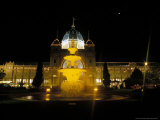 World Heritage Listed Royal Exhibition Buildings and Gardens at Night  Australia
