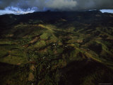 Verdant Patchwork of Sugarcane Fields Cloaks Viti Levu's West Coast in Fiji