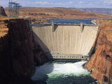 Water is Released Below the Glen Canyon Dam on the Colorado River