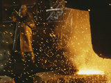 Sparks Fly from a Steel Furnace  Utah