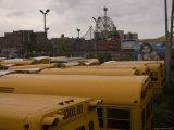 School Bus Parking Lot  Brooklyn  New York