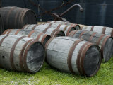 Wooden Barrels on the Ground  Mystic  Connecticut