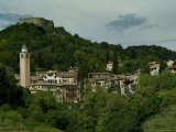 The Rocca Perched on Mount Ricco above the City of Asolo  Italy