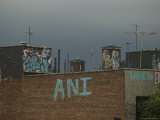 Top of a New York Building with Graffiti