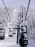 Ski Lift at a Resort