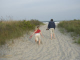 Two Siblings Along the Beach near Stone Harbor  New Jersey