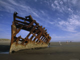 Shipwreck near Astoria  Oregon