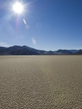 Sun Burst over Dry Lake Bed  California