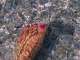 Woman's Foot in the Warm Water of the Gulf of Mexico  Holmes Beach  Florida