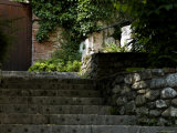 Stone Stairway Up to a Wooden Door  Asolo  Italy