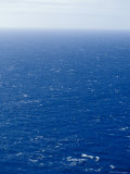 Wind Creates White-Capped Waves Sprinkled Across a Vast Blue Ocean  Bass Strait  Australia