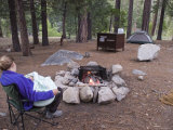 Woman and Her 3-Month-Old Camping at Sheep Creek Campground