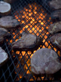 Steaks on a Campfire Grill at the 4-H Photo Camp at Halsey  Ne