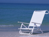 White Beach Chair on the Beach  Holmes Beach  Florida