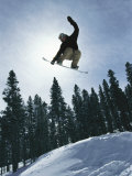 Snowboarder in Flight  Colorado