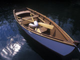 Wooden Boat and Paddles in Halibut Cove  Alaska