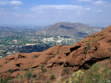 View Overlooking Phoenix  Arizona from Camelback Mountain