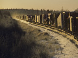 Train Transporting Oil Equipment to the Arctic  Alaska