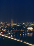 Washington DC at Night  Seen from Virginia  Washington  DC