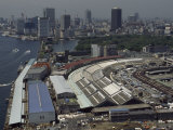 View from the Nichirei Building Overlooking the Tsukiji Fish Market  Japan