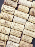 Lots of Different Wine Corks Lying Side by Side