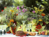Summery Floral Decoration with Vine Tomatoes