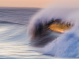 Waves Breaking Before Sunrise at Emma Wood State Beach  Ventura  California