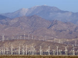 Wind Turbines Generating Electricity in Coachella Valley  California