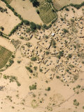 Village with Irrigated Gardens Along a Wadi  Just North of Agadez  Niger